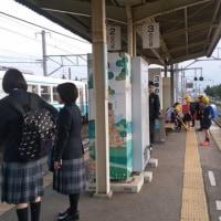 伊予市駅から電車に乗って・・・