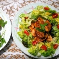 鶏胸肉のタンドリー風味焼きにオーブン焼き野菜