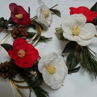 古布花嫁衣装から紅白の椿のレッスンは楽しいです