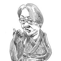 「ハッチングの練習」京極夏彦(似顔絵)