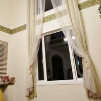 c&c刺繍のカーテン