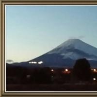 今夕の富士山