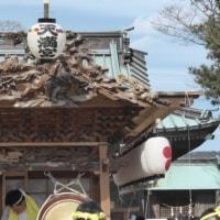市部(いちぶ)天満神社の屋台修復記念の引き回し(南房総市岩井)