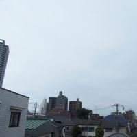 今朝(6月19日)の東京のお天気:曇り、6月の温度統計、6月(後半)の作品:寄り添う二人