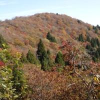 比良山系・釈迦岳(紅葉が始まった静穏な景観をゆったりと楽しむ)