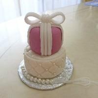 キルティング模様のシュガーアートケーキ(さちこさんへのシュガーアートレッスン)