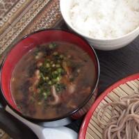 池田産の食材を使った蕎麦っす。