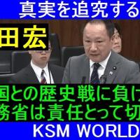 【KSM】山田宏「韓国との歴史戦に負けたら外務省は責任とって切腹しろ!」参院外交防衛委員会 2017年4月20日