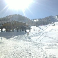 1st Skiing in 熊の湯・・・人工雪+天然雪