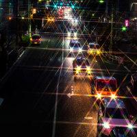 歩道橋から写真撮り