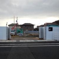 広島県福山市南蔵王町1丁目10・綱木バス停そばの工事現場