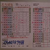 今日のゴルフ挑戦記(120)/新千葉CC「たちばな」アウト→イン(ベント)