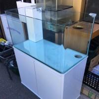 中古 コトブキ レグラス 900×450×450オールガラスオーバーフロー水槽セット