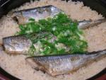 土鍋でさんまの炊き込みご飯