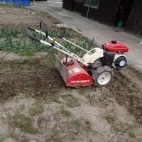 まめトラで畑を耕しました