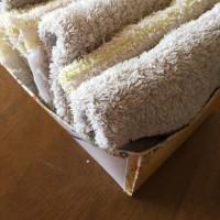 切りっぱなしの雑巾を沢山作りました