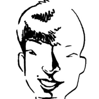 「似顔絵の勉強」ぺこ&りゅうちぇる、星野源(似顔絵)