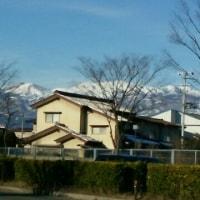 ねこ形の雪の吾妻小富士