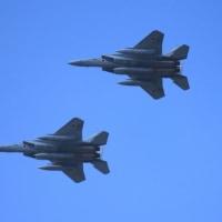 春が来た!! 熊谷基地さくら祭り予行 F-15航過飛行