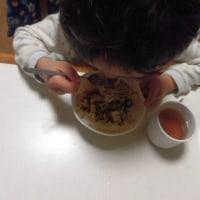 納豆ご飯と味噌汁掛けご飯と牛乳と頭の大きさ