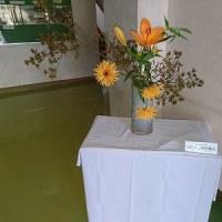 職員玄関の花