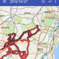 今日の移動範囲。渋谷から赤坂へ。