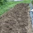 秋の畑作り、掘り起しと施肥。