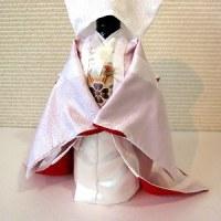 結婚式シーズンに、着物ボトルカバー