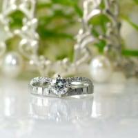 譲り受けられたダイヤリングをデザインを変えて婚約指輪へ。。