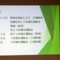 小学校の運動会と11月3日★第11回 八丈島歴史セミナー