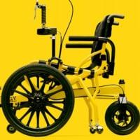 足こぎ車椅子に乗ろう♪