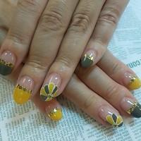 ブログ161104 今月のネイル 秋の装い  アースカラー