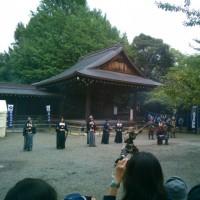 靖国神社古武道奉納演武に参加して来ました。