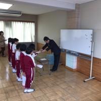 3学期学級委員任命式