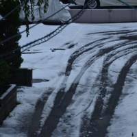 雪積もった