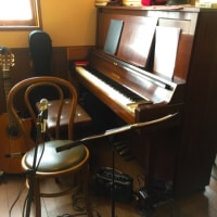 飯能の山の麓のカフェで演奏