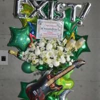 幕張メッセにお届けのバルーンスタンド花
