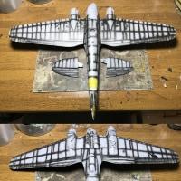 モノグラム1/48 ハインケルHe111H製作記 その15・シャドウ吹き完了…したものの!?