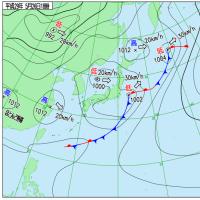 5月26日 アメダスと天気図。