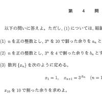 2016年・東京大学・文系・数学・整数・合同式