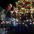 茶屋町祇園山笠本番。フィナーレは火曜日夜。茶屋町公園周辺で暴れ馬します。