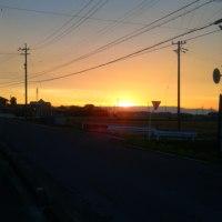 旧嬉野町からの黄昏時