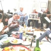 千駄ヶ谷の友人宅でバンド演奏を兼ねた新年会