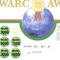 AJA-14500 WARC-9000 ステッカー到着