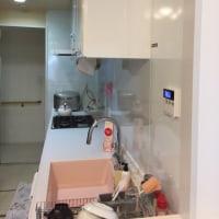 キッチンの袖壁を切って、開放感あるスペースにしました^ ^