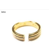 カルティエの結婚指輪を修理しました。