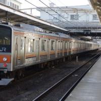 205系M19編成むさしの号八王子行@豊田駅