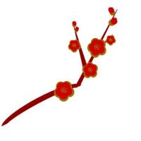 紅白梅 枝を付けてみましょう(^^)/