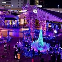 06/Dec テラスモール湘南の三日月とイルミネーション