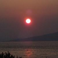 百道浜の夕暮れ